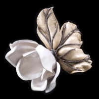 Magnolia flower brooch by Luz Camino